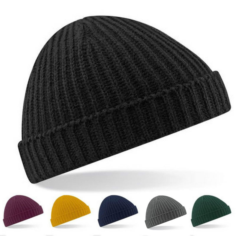 Winter Casual Cotton Knit Hats For Women Men Baggy Beanie  Hat Crochet Slouchy  Cap Warm