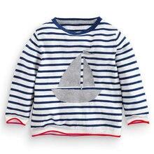 Осенне зимний брендовый Детский свитер теплый Хлопковый вязаный