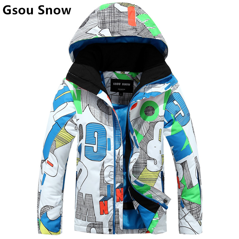 gsou Snow ski ski suit children's high-end outdoor wind and water ski clothes