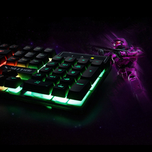 Water resist Colorful LED Wired Keyboard Suspended Keycap Computer Accessories Gaming Keyboard Professional Gaming Keyboard