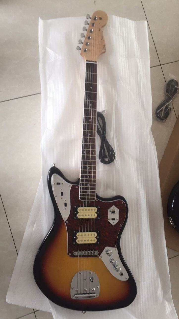Wholesale Guitar New Cnbald F Jaguar Model Electric Guitar Top Quality In Sunurst 161127 new arrival cnbald lp supreme electric guitar top quality lp guitar in deep brown 110609 page 8