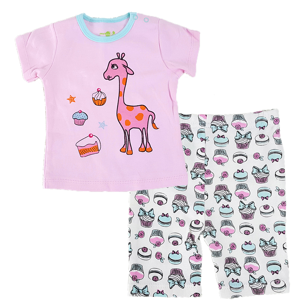 2018 2pcs Summer Baby Girl Clothing Sets Cotton Cartoon Newborn Shirt Shorts Cheap Baby Girl Clothes Suit For 0-24M Bebes
