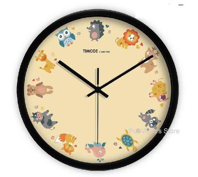 Wanduhr Für Kinderzimmer   Nette Zwolf Tiere Wanduhr Kreative Cartoon Tiere Uhr Kinderzimmer