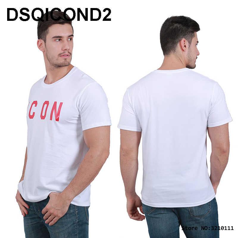 DSQICOND2 DSQ di Marca Nuovo Casual Magliette ICONA Stampato Magliette E Camicette maschile Femminile di Estate Casual Cotone Manica Corta T-Shirt Allentato Coppia Magliette E Camicette