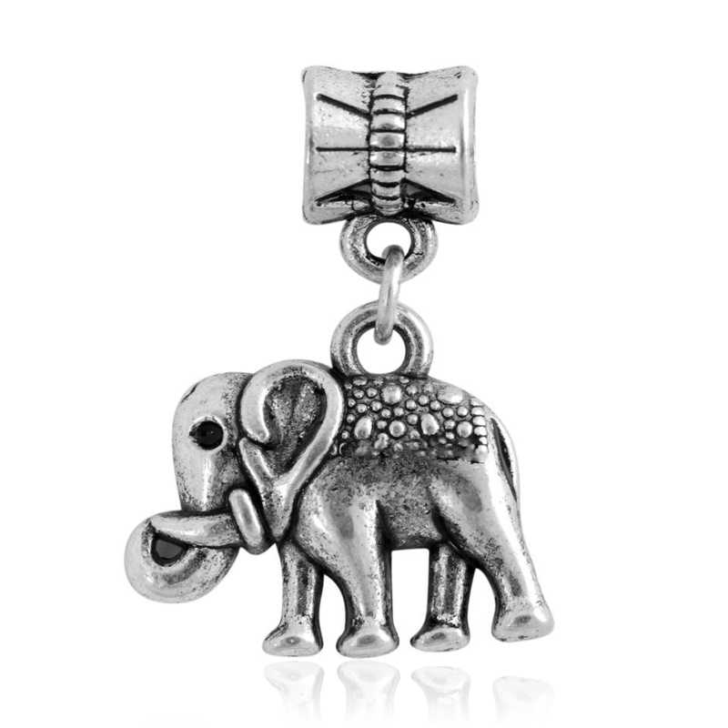 2c58216ba Detail Feedback Questions about Free Shipping 1PC Silver Plated Elephant  Pendants Diy Bead Charms fit Pandora European Style Charm Bracelets on ...
