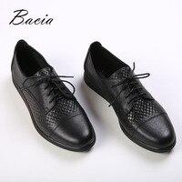 Bacia/брендовые весенние женские туфли на платформе, женские кожаные туфли на плоской подошве, туфли со шнуровкой, женские туфли оксфорды на п