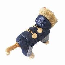 Новая утепленная теплая куртка зимняя одежда для собак пальто для домашних животных одежда комбинезон с капюшоном теплая одежда для собак