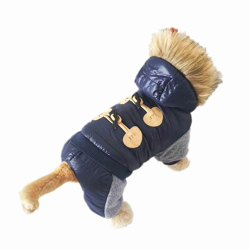 Neue Verdickung Warme Jacke Winter Hund Kleidung Haustier Fell Kleidung Mit Kapuze Overall Warme Kleidung Für Hunde