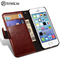 Caso carteira de couro para apple iphone 5s 5 se virar luxo saco do telefone capa para o iphone 5s casos fundas coque tomkas marca