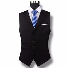 Custom Made Black Slim Fit Groom Vests Wedding Prom Dinner Party Suit Waistcoat For Men Best Man Vest Coletes chaleco hombre