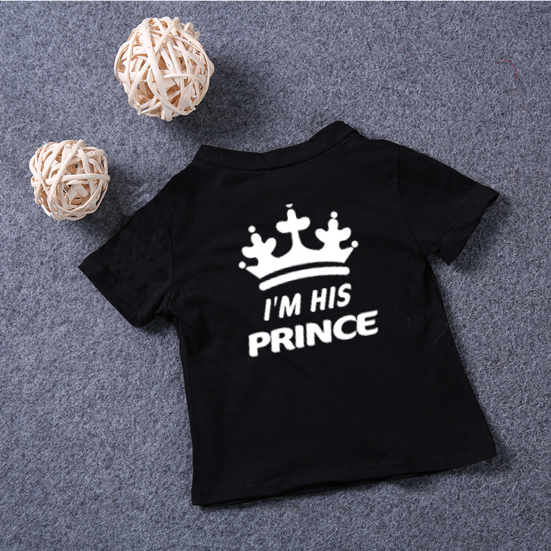 King and Queen Crown Couple Romantic Valentines T Shirt Tee
