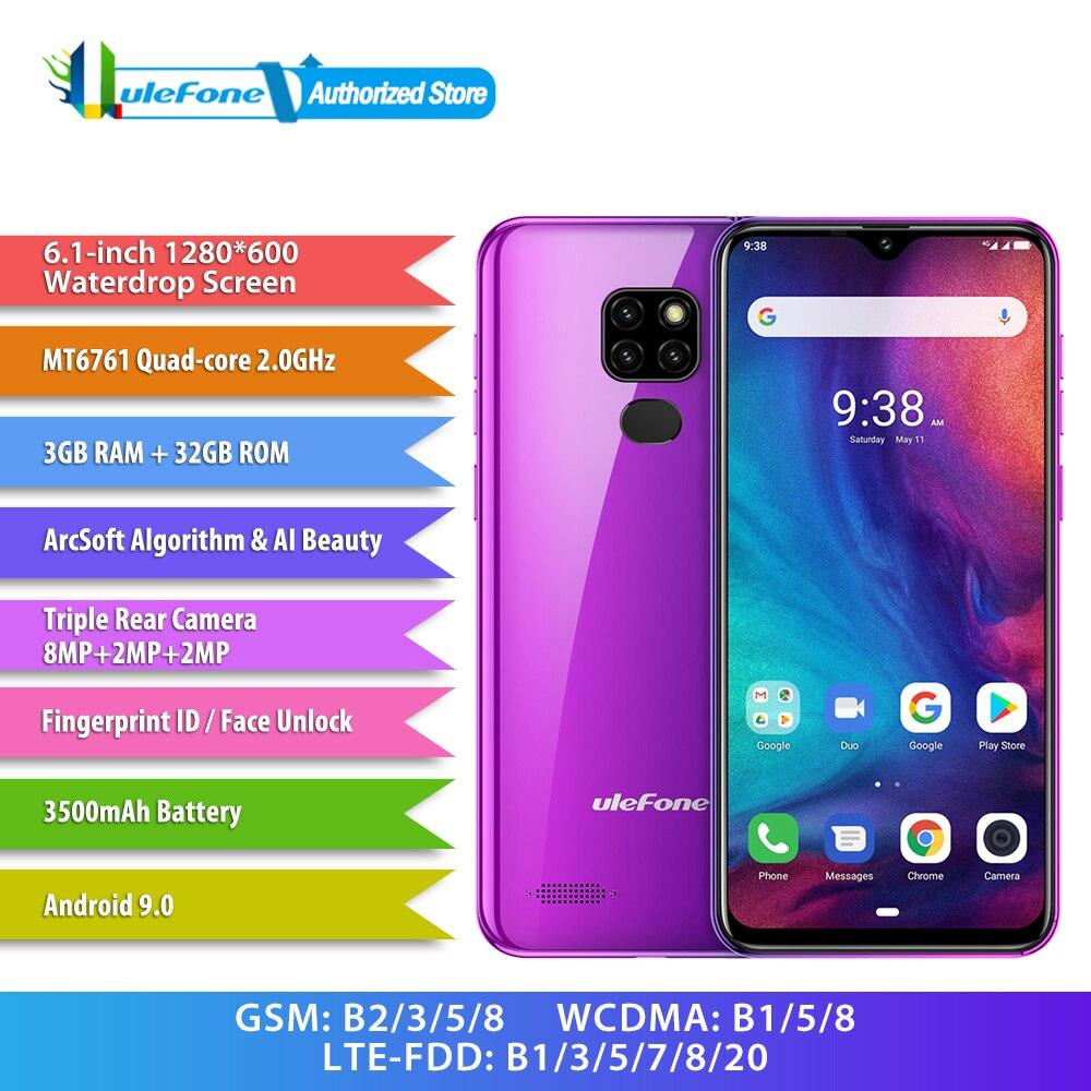 Ulefone uwaga 7P 32GB telefonów Android 9.0 Quad Core MT6561 palec i rozpoznawanie twarzy 6.1 cal 8MP 2 karty Sim smartfon w Telefony Komórkowe od Telefony komórkowe i telekomunikacja na AliExpress - 11.11_Double 11Singles' Day 1