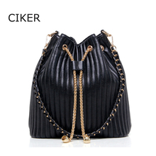 CIKER Brand new bucket shoulder bag women leather handbags fashion women messenger bag lady Classic bolsa feminina crossbody bag