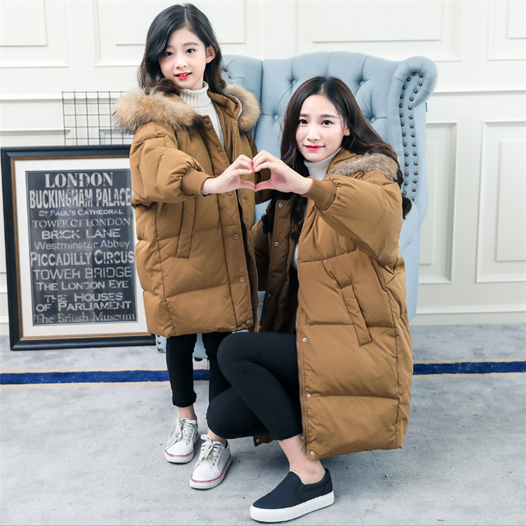 Down jacket coat for 5 6 7 8 9 10 11 12 13 14 15 16 years teenager girl yellow green winter Mother and daughter long outerwear alparaisa с20 007 7 изделие декоративное фемида 16 12 5 7 6