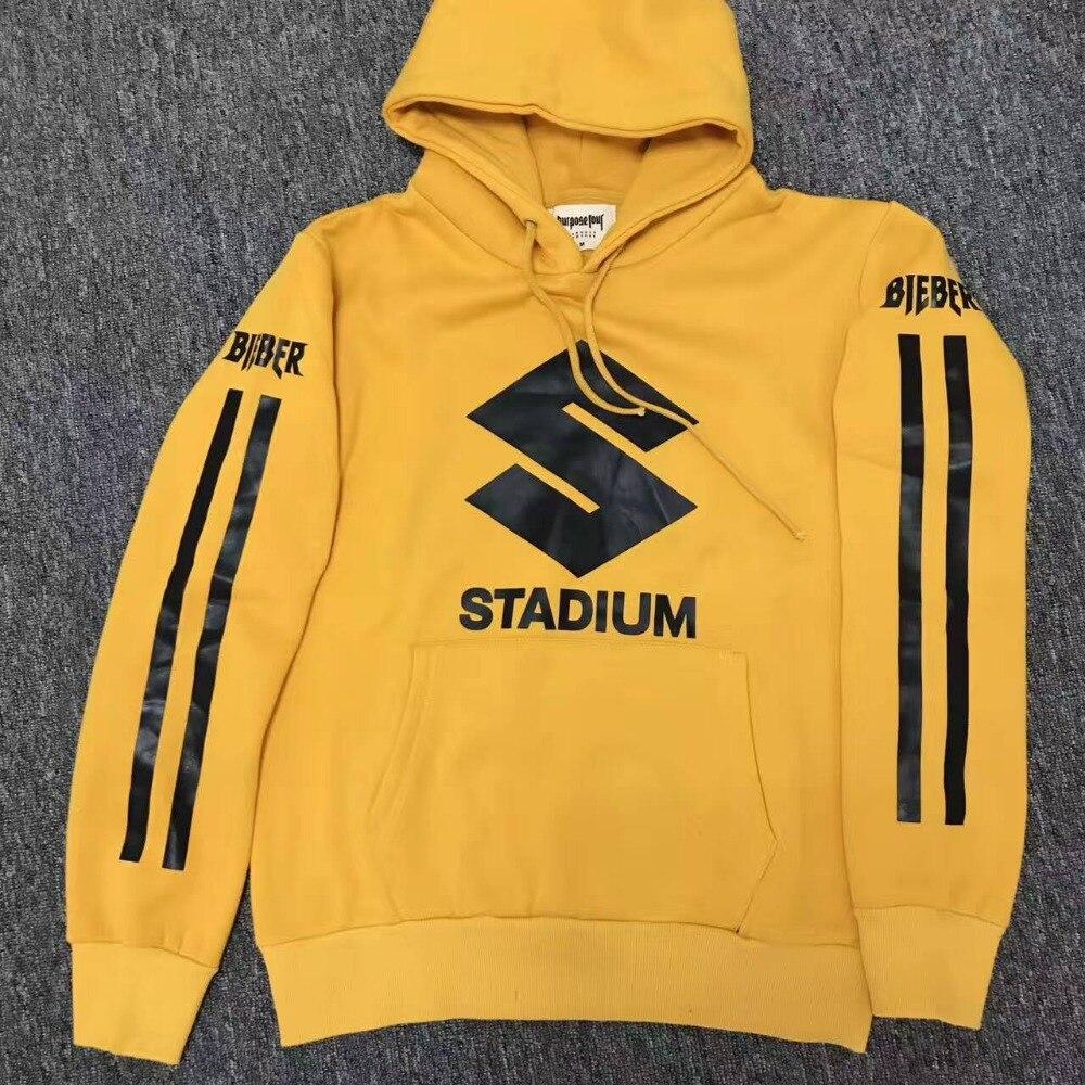 2017 NEW Style JUSTIN BIEBER STADIUM TOUR yellow men Hoodies ...