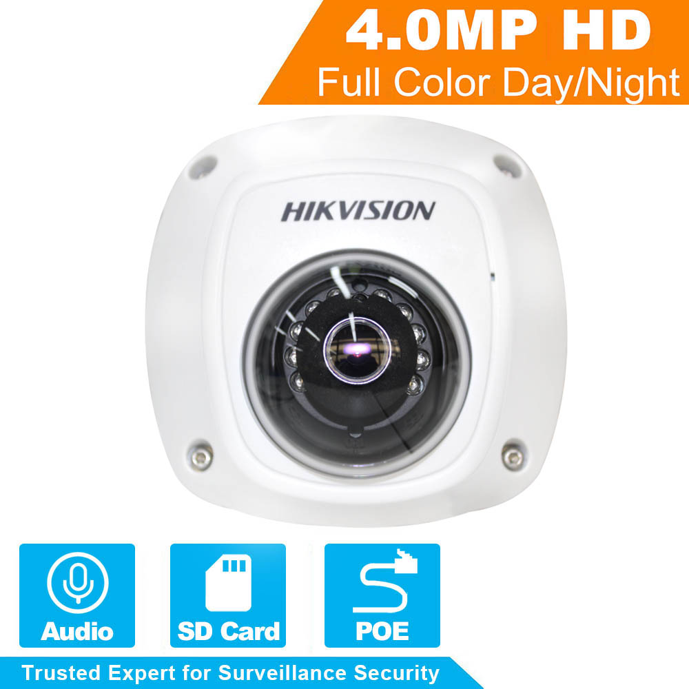 In Stock HIKVISION CCTV Camera DS-2CD2542FWD-IS 4MP Mini Dome Camera Built-in SD Card Slot Indoor/Outdoor PoE IP Camera IP67