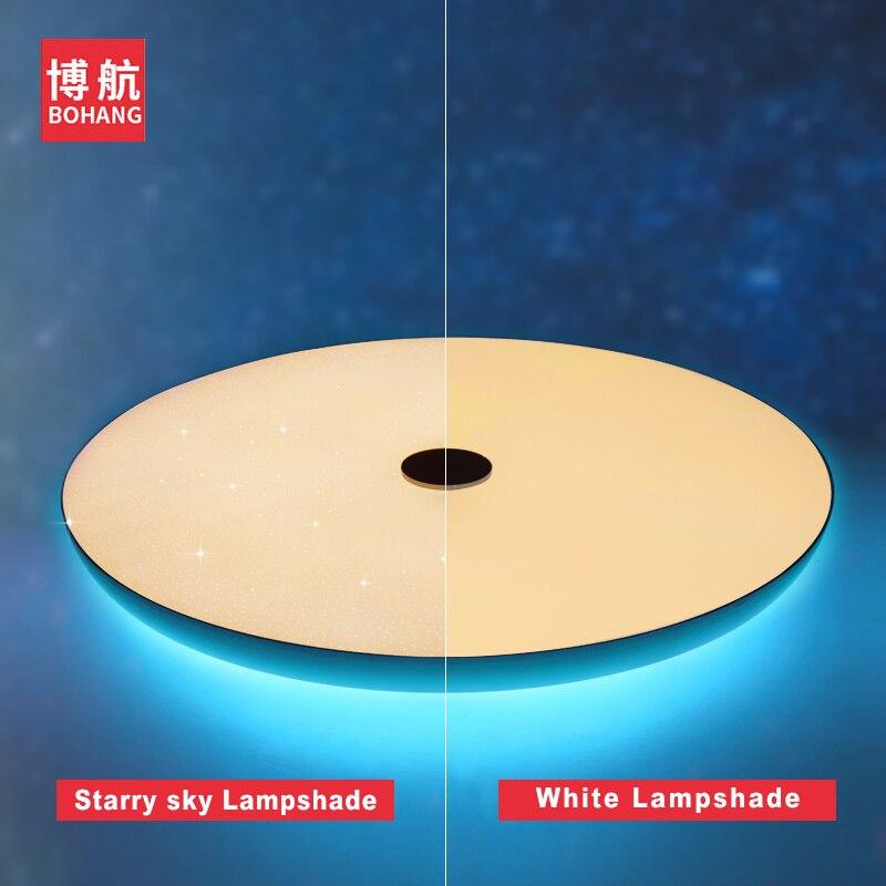 Moderno led luzes de teto pode ser escurecido 36 w 48 72 app controle remoto bluetooth música luz alto falante foyer quarto lâmpada do teto inteligente - 5