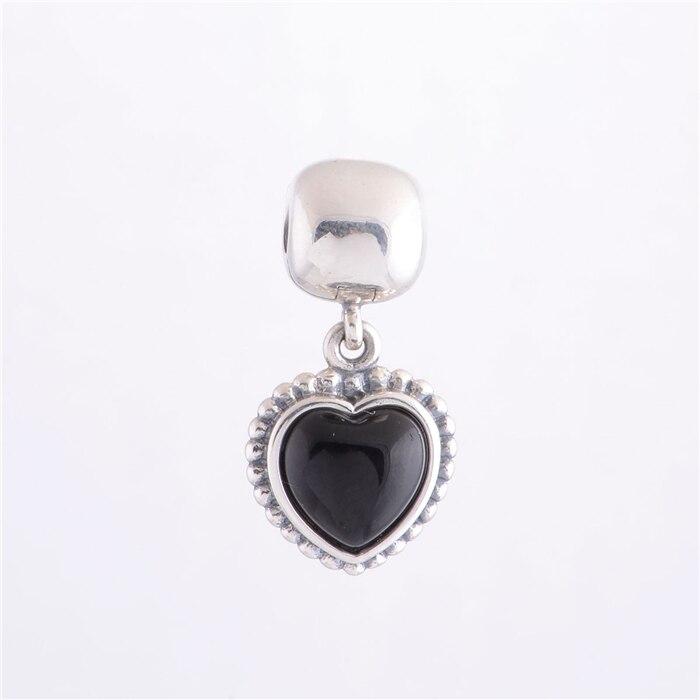 5fabfd355f087 100% 925 Sterling Silver Mi Amor Black Onyx Sterling Silver Dangle ...