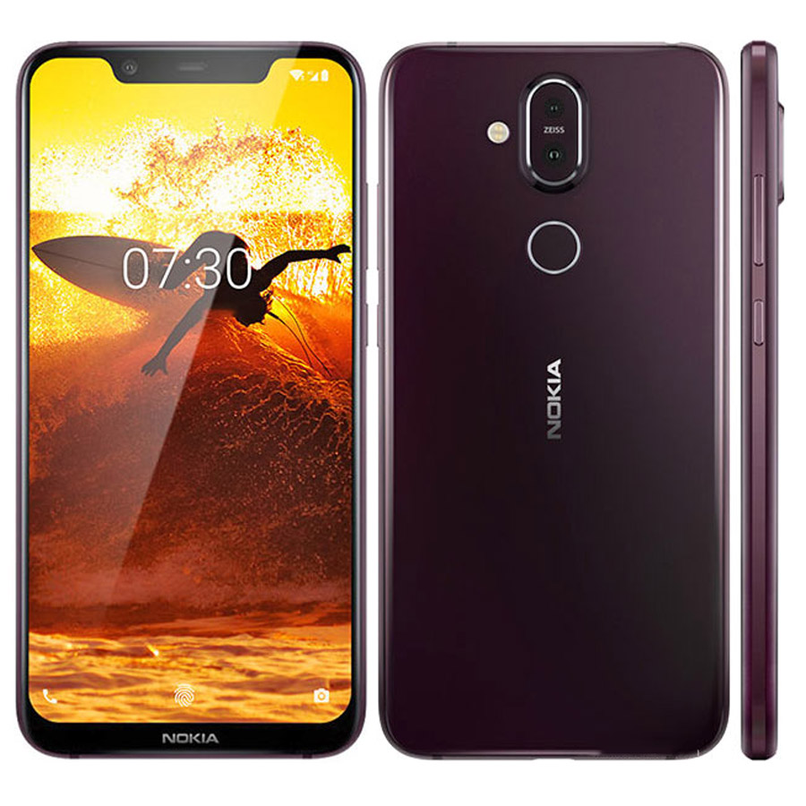 Global Version Nokia 8.1 TA-1119 4G LTE Mobile Phone 6.18 Snapdragon 710 Octa Core 6GB 128GB 20MP Front Camera Android 9 NFC