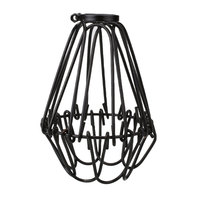 Bulb Cage Guard Pendant Clamp On Lamp Cover Shade For Home Light Black