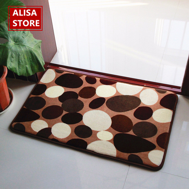 Soft Cotton Quick Dry Bathroom Mat Anti-slip Modern Bathroom Rug 40*60cm 1pcs Bathroom Carpet Home Decoration Useful Bath Mat