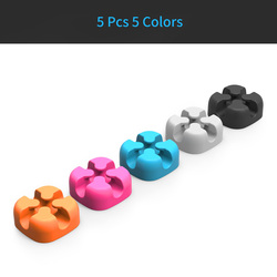 ORICO CBSX Colored Cable Organizer Silicone USB Cable Winder Cable Management Clips Cable Holder For Mouse Headphone Earphone