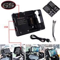 Para bmw r1200gs r1200 gs navigator gps carregador portátil usb suporte de navegação do telefone da motocicleta áfrica twin crf1000l adv 800gs