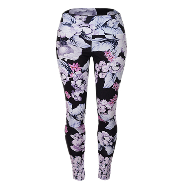 225c722e36e64 High Waist Floral Print Leggings Women Vintage Thin Ankle-Length Skinny  Leggins Sexy Butt Lifting Trousers