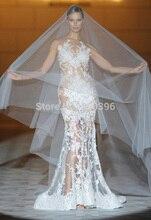 Heißer Durchsichtig Tüll Sexy Meerjungfrau Abendkleid 2017 vestidos Spezielle Design Mode Abendkleid Bodenlangen Formale Kleider