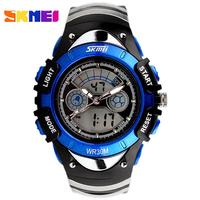 Watch Children SKMEI Fashion Casual Waterproof Boys Girls Digit LED Watches Outdoor Sport Students Wristwatches Gift