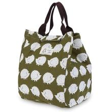 2017 neue Mode Tragbare Insulated Leinwand lunchpaket Thermischen Picknick mittagessen Taschen für Frauen kinder Männer Kühler Lunchbox Tasche Tote