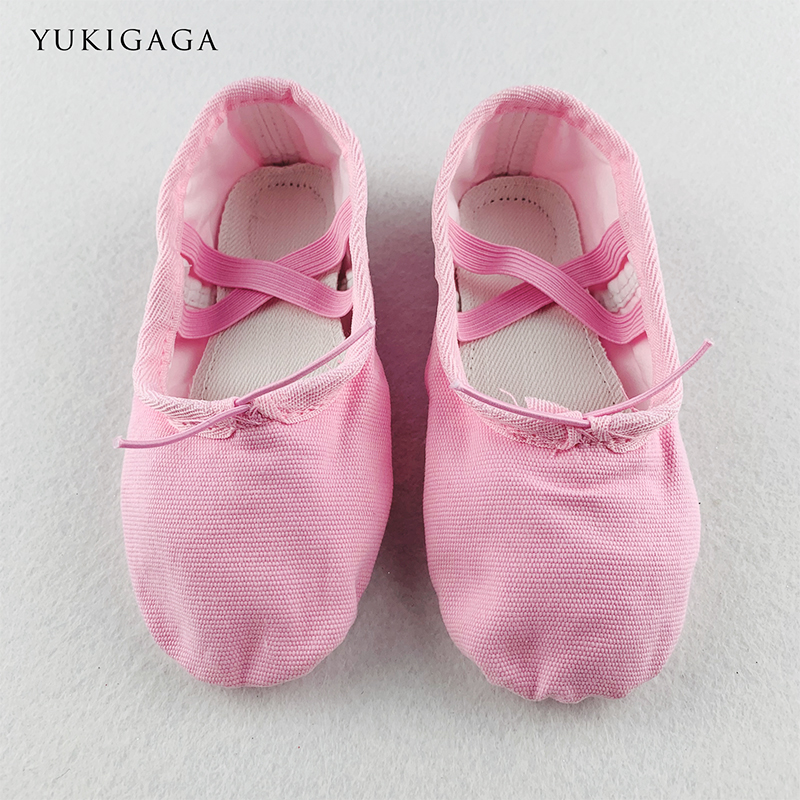 Yukigaga Yoga Slippers Gym Teacher Yoga Ballet Dance Shoes For Girls Women Ballet Shoes Canvas Kids Children a2d(China)