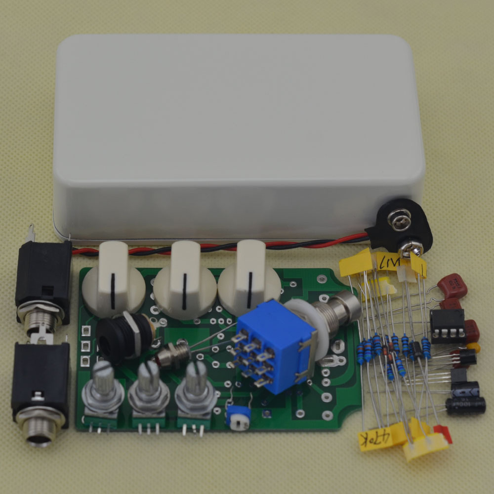 Electric Guitar Effect Pedal Overdrive kit  True Bypass High Quality Guitarra Effect white Pedal  free shipping mooer ensemble queen bass chorus effect pedal mini guitar effects true bypass with free connector and footswitch topper