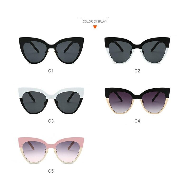 fa255346e0 Fashion Cat Eye Sunglasses Women Vintage Sun Glasses Wide Frame Glasses  Brand Designer Sexy Girls Eyewear oculos de sol UV400-in Sunglasses from  Apparel ...