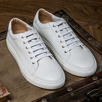 Men S Shoes Breathable Genuine Leather Casual White Shoes Handmade Flat Shoes Brand Men Loafers Flats