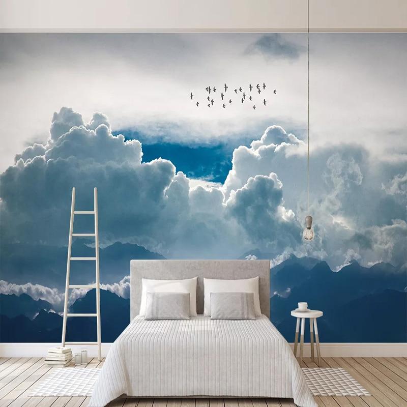 Custom Mural Wallpaper Modern Abstract Sky Clouds Photo Wall Painting Living Room Bedroom Self-Adhesive Waterproof Home Decor