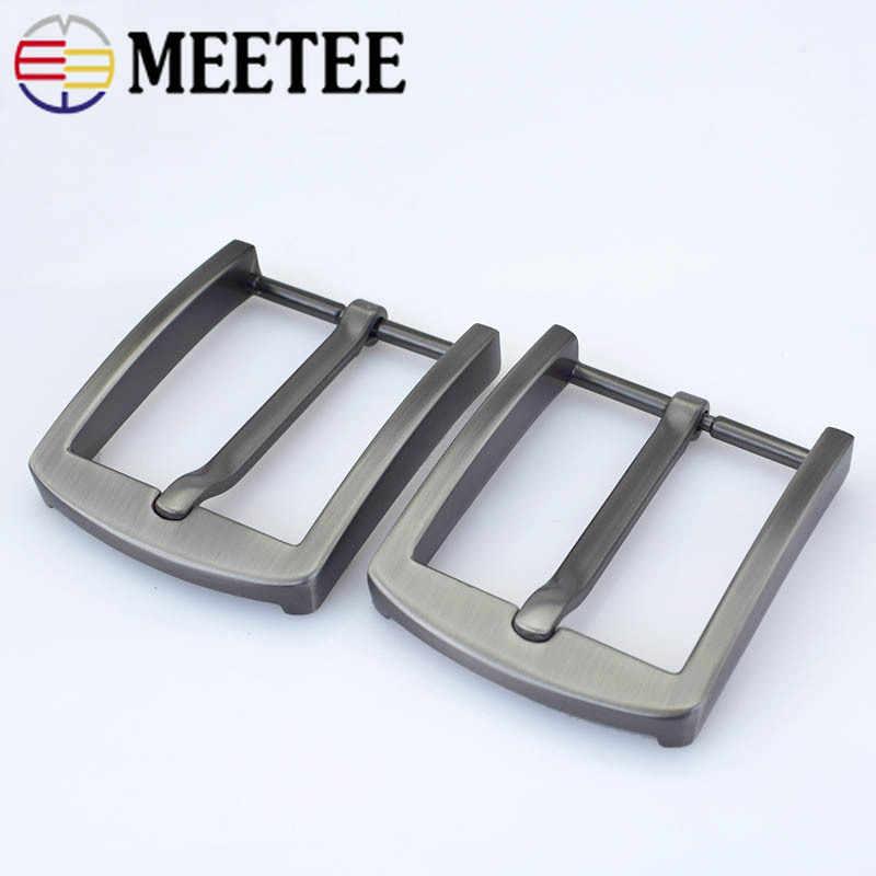 2 pçs fivela de cinto de metal fivela de cabeça 40mm fivela de pino para cinto 38-39mm diy artesanato de couro acessórios de cinto zk1199