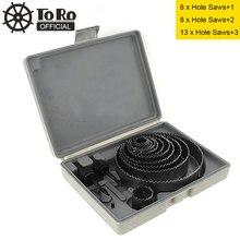 цена на TORO 13pcs 19-127mm Hole Saw Bit Cutting Set Kit Drilling Tool Round Case Drill Bits for Gypsum Board / PVC Board