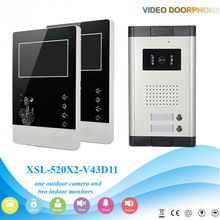 YobangSecurity Wired 4.3″ Inch Monitor Video Door Bell Phone Intercom Home Gate Entry Security Kit System For 2 Unit Apartment