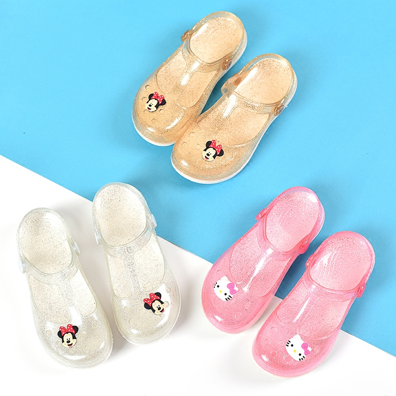 Mini Melissa 3 Color Mickey Pattern Big Girls Sandals And Woman Jelly Sandals 2018 Summer Kid Sandals Melissa Women Jelly Shoes