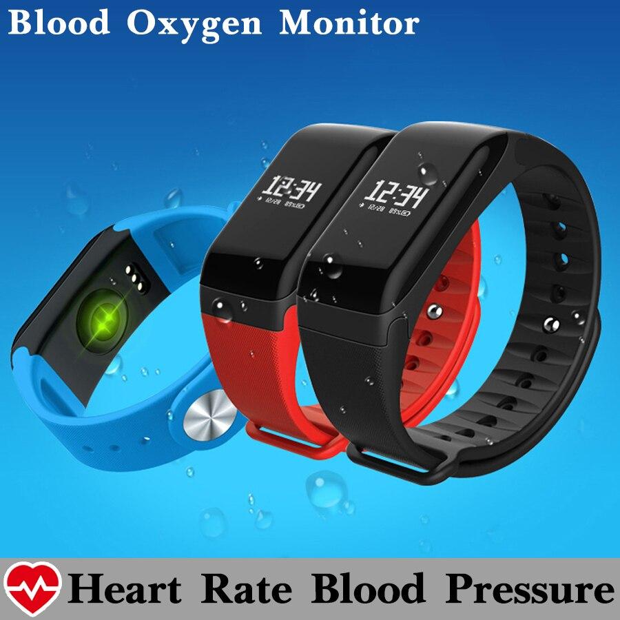 imágenes para Moda de La Presión Arterial de Oxígeno Del Ritmo Cardíaco Monitor De Fitness Inteligente Pulsera Banda Perseguidor Impermeable Podómetro Inteligente Pulsera