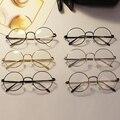Unisex mujer hombre diseño Retro gafas redondas marco de Metal Clear Lens gafas Nerd Glasses 6 colores L4 KT2