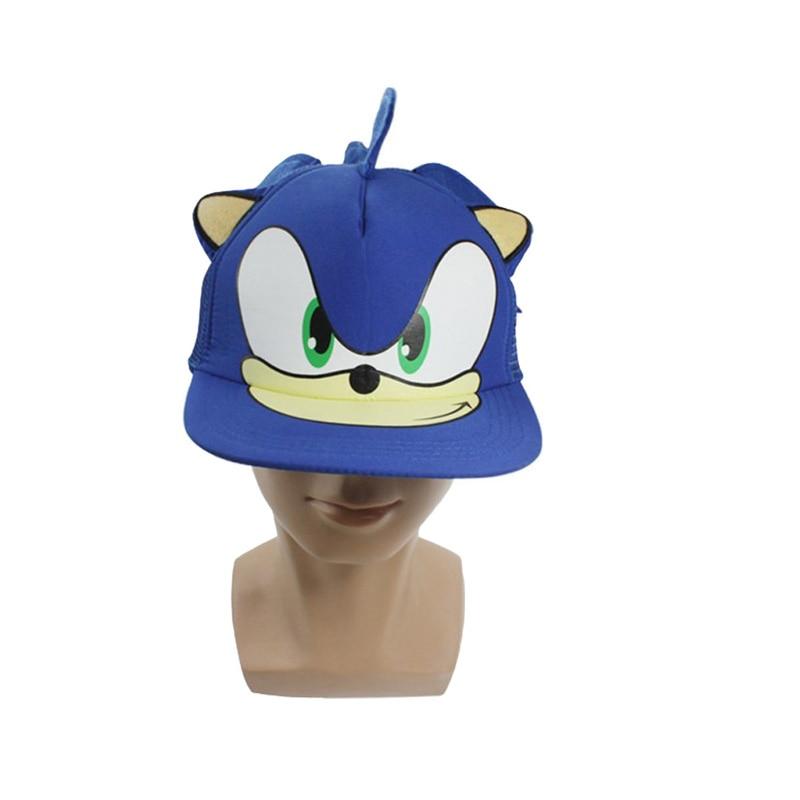 19cm Cute Boy Sonic Ariciul desen animat de tineret reglabil Hat - Jucării moi și plușate