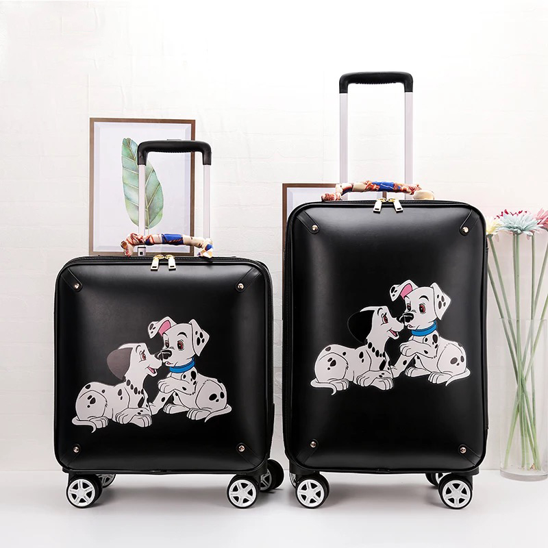 Carry-ons Small Fresh Rolling Luggage Trolley Suitcase Women Travel Carry On Boarding Box Men Personality Fashion Luggage 1620 Inch Chills And Pains