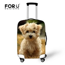 Husky Pattern Men Women Travel Accessories Luggage Protective Elastic Covers Stretch Bags for Suitcase Cover For 18''-30'' Case