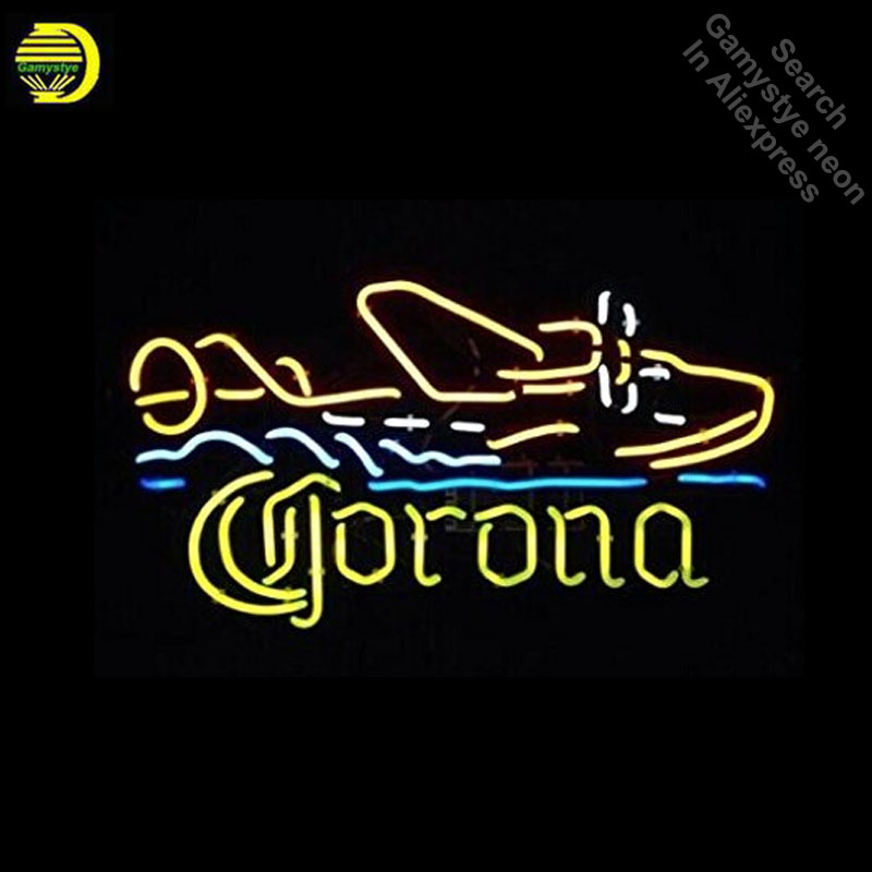 Neon Signs for Corona Seaplane  Handcrafted Neon Bulbs sign Glass Tube Decorate Wall neon light maker Signboard dropshippingNeon Signs for Corona Seaplane  Handcrafted Neon Bulbs sign Glass Tube Decorate Wall neon light maker Signboard dropshipping