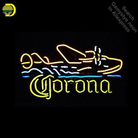 Neon Signs for Corona Seaplane Handcrafted Neon Bulbs sign Glass Tube Decorate Wall neon light maker Signboard dropshipping
