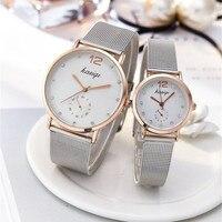 Aço inoxidável strass casal relógios homem e senhoras 2019 relógio de pulso quartzo luxo para os amantes unisex relógio montres femme quente Relógios para Casais     -
