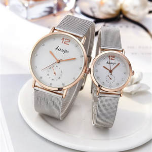 Couple Watches Stainless-Steel Ladies Lovers Man And Quartz for Unisex Montres Femme
