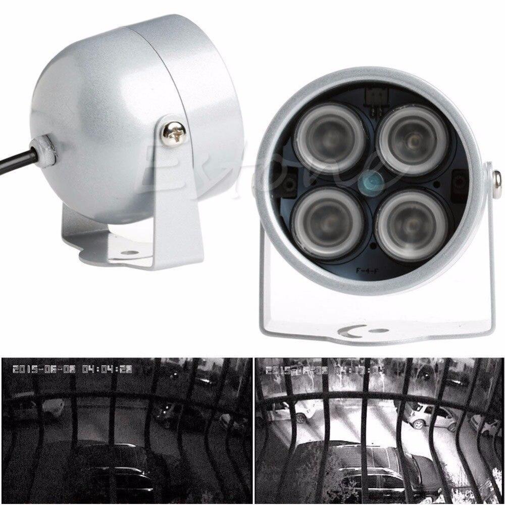 Hot 4 LED Infrared Night IR Vision Light illuminator Lamp For IP CCTV CCD Camera NewHot 4 LED Infrared Night IR Vision Light illuminator Lamp For IP CCTV CCD Camera New